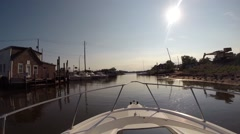 GoPro Boating near Staten Island, New York Stock Footage
