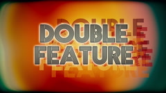 Double Feature Cinema Grindhouse Stock Footage