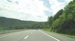 Driving through the Catskill Mountains Stock Footage