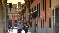 ULTRA HD 4k,The famous street in a historical center of Padova, Italy Stock Footage