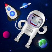 Astronaut in outer space Stock Illustration