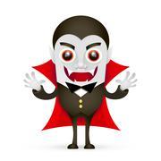 Vampire or Dracula on white background Piirros