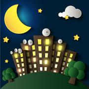 City at night. Stock Illustration