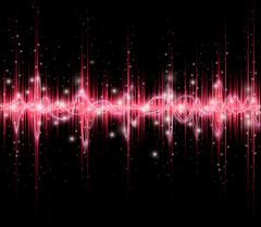 Music sound waves Stock Illustration