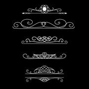 Vintage vector  borders. Set of calligraphic decorative dividers borders. Stock Illustration