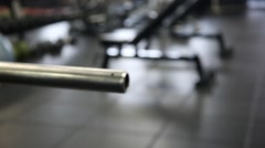 Weight on Bench Rack Stock Footage