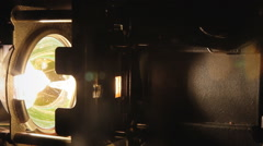 Super 8 mm parts flicker lamp Stock Footage