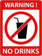 No drink sign. Vector illustration. Flat design. - stock illustration