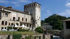 Asolo - Motion view of the Castello Cornaro Stock Footage