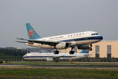 China Southern Airbus A319 airplane Beijing airport Stock Photos