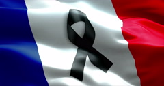 Pray for paris, nice, france, waving france country flag color background Stock Footage