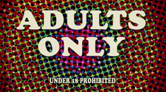 Adults Only Retro Digital Animation Stock Footage