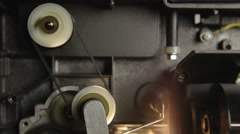 Super 8 mm parts inside components Stock Footage