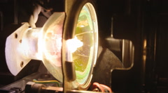 Super 8 mm parts lamp detail Stock Footage