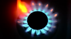 Cooking stove burning, close up from top, loop Stock Footage