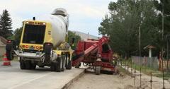 Highway road construction equipment DCI 4K Stock Footage