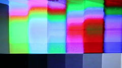 Color Bars Signal Damage Stock Footage