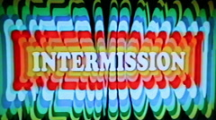 Intermission Cinema Grindhouse Tape Damage Stock Footage