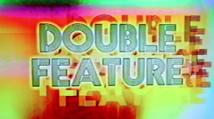 Double Feature Grindhouse Cinema Tape Damage Stock Footage
