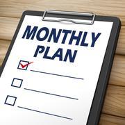 Monthly plan clipboard Stock Illustration