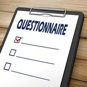Questionnaire clipboard image Stock Illustration
