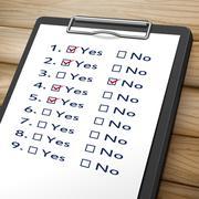 Checklist clipboard illustration Stock Illustration