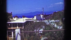 1952: Fancy wealthy tropical cliff ocean view villa mansion home.   ACAPULCO, Stock Footage