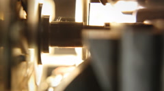 Super 8 mm parts projection light Stock Footage