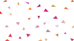 Coloring triangular background sequentially stop motion animation Stock Footage