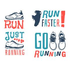 Run sport motivation vector Stock Illustration