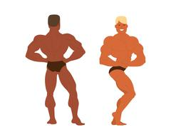 Gym fitness bodybuilder man Stock Illustration