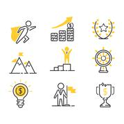 Motivations icons vector set Stock Illustration