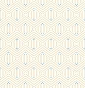 Seamless Abstract Pattern With Hexagons - stock illustration