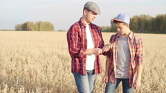 Continuity of Generations in Farming - stock footage