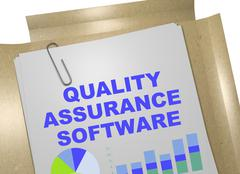Quality Assurance Software concept Stock Illustration
