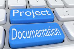 Project Documentation concept Stock Illustration
