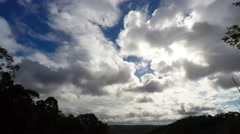 Day Time Lapse Cloud Formations Moving North  Stock Footage