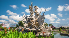 Timelapse View of Patung Satria Gatotkaca Monument in Bali, Indonesia Stock Footage