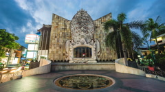 Timelapse View of the Bali Bombing Memorial, aka Ground Zero in Bali, Indonesia Stock Footage