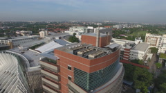Aerial university building in Thailand 4k Stock Footage