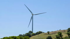 Windmill on the Tuscan hill Stock Footage