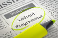 We're Hiring Android Programmer Stock Illustration