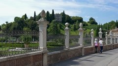 Asolo - Villa de Mattia Stock Footage