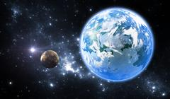 Extrasolar planet or exoplanet, another Earth-like planet Stock Illustration