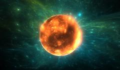 X-ray emission from erupting young star Stock Illustration
