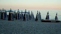 Sunset in Calabria beach Stock Footage