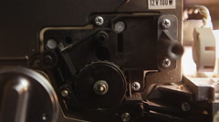 Super 8 mm parts wheels lamp Stock Footage