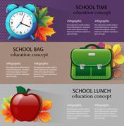 School supplies Stock Illustration