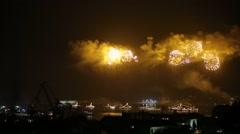Fireworks in Sevastopol, Navy Day Stock Footage