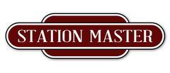 Station Master Station Sign Stock Illustration